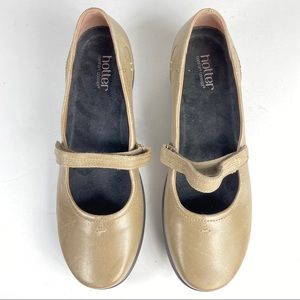 Hotter Adorn Taupe Shoes Mary Janes Leather 9.5